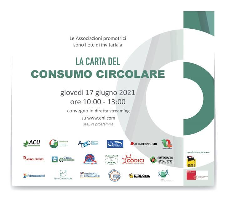 """Convegno """"La Carta del Consumo Circolare"""" 17 Giugno 2021"""